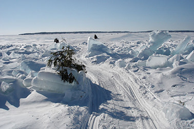 Ice Bridge to Mackinac Island